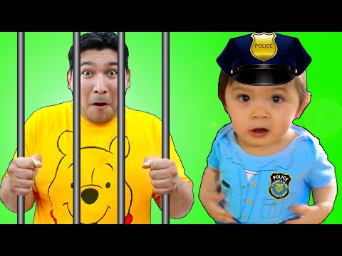 Baby Maddie Pretend Play as Kid Police | Funny Play at Home