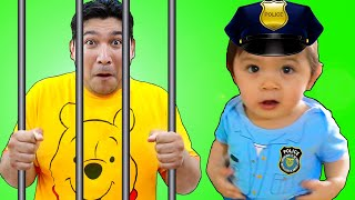 Baby Maddie Pretend Play as Kid Police | Funny Play at Home Kids Videos