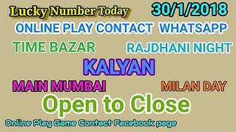3/1/2018 Satta matka king 143 Kalyan main mumbai rajdhani night open to close milan day night