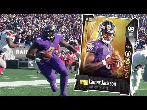 GOLDEN TICKET LAMAR JACKSON!! THE FINAL PLAY 👀  MADDEN 18 ULTIMATE TEAM GAMEPLAY EPISODE 84