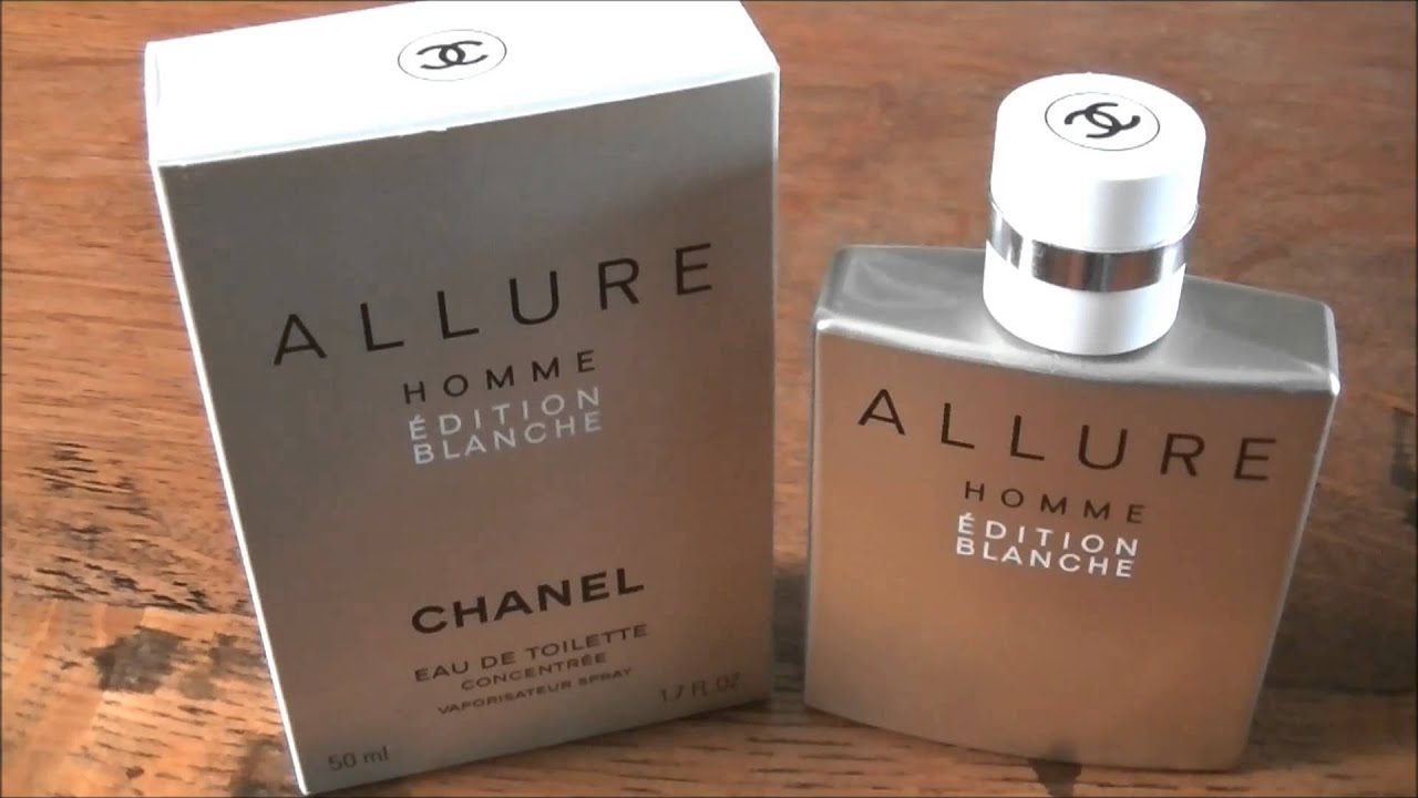 a review of allure homme edition blanche edt by chanel - YouTube