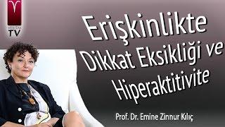 Erişkinlikte Hiperkativite ve  Dikkat Eksikligi -  Prof. Dr. Emine Zinnur Kılıç  -