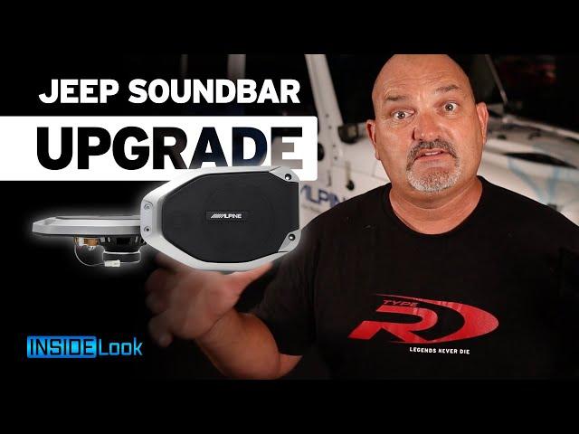 Upgrade Your Jeep Wrangler JL  Soundbar with this Alpine system