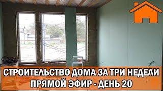 Строительство дома за 3 недели, прямой эфир. День 20-ый.