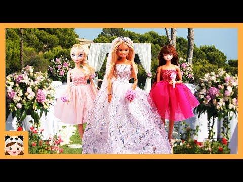 Barbie Wedding Day! morning routine Hair Salon, Wedding Dress Vestido