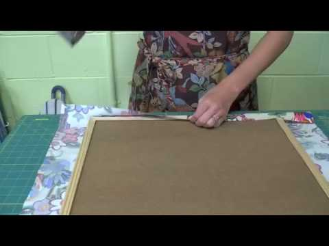 Fabric wall art craft video podcast youtube for Youtube art and craft