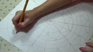 Mandala design. Dot painting mandala. Acrylic Painting. Draw a pattern.