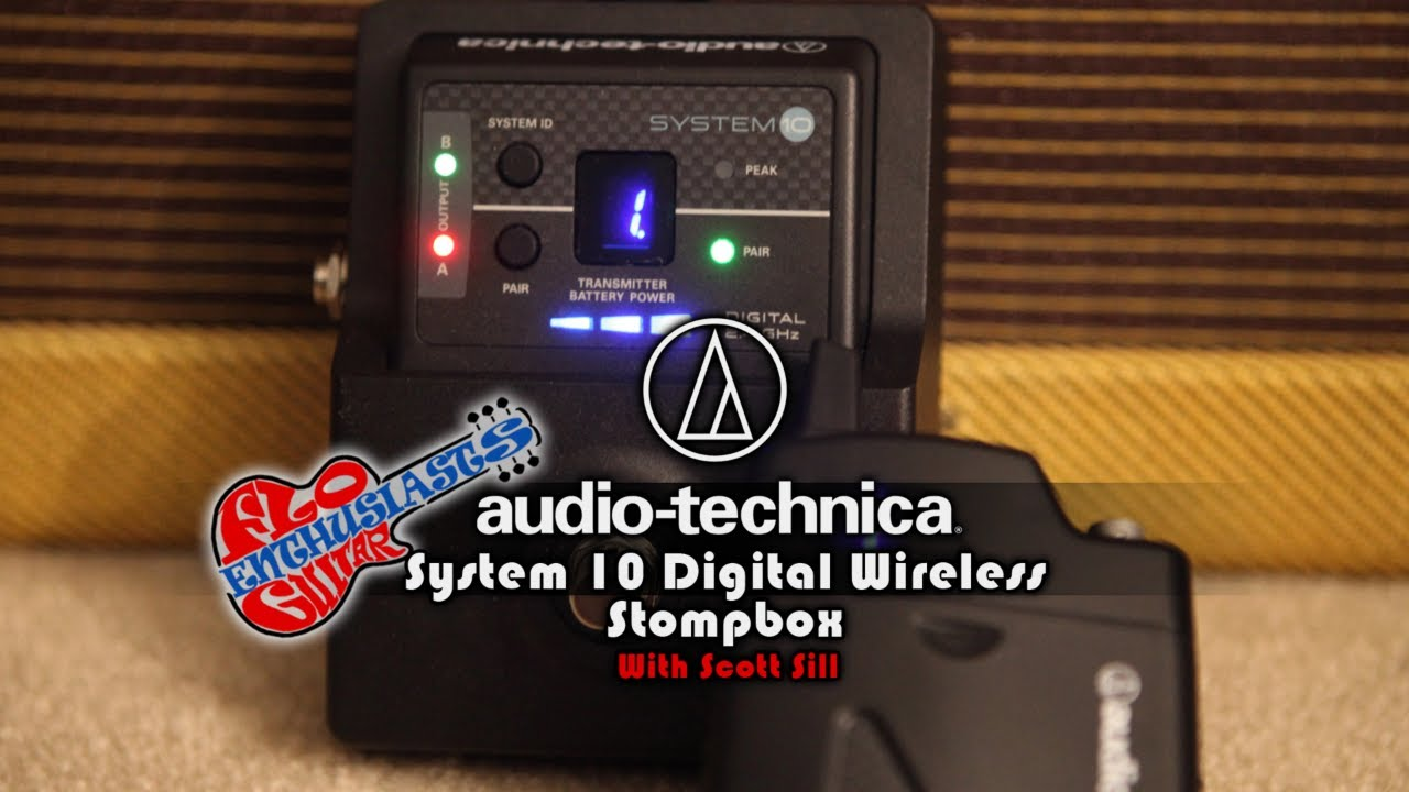 audio technica system 10 stompbox digital wireless system demo by scott sill youtube. Black Bedroom Furniture Sets. Home Design Ideas