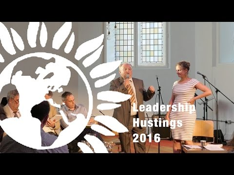 Green Party Leadership Hustings 2016 - London