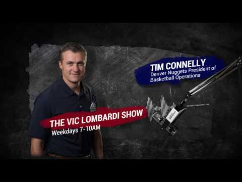 Denver Nuggets President of Basketball Operations Tim Connelly joins The Vic Lombardi Show