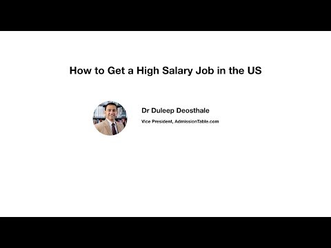 How to Get a High Salary Job in the US?