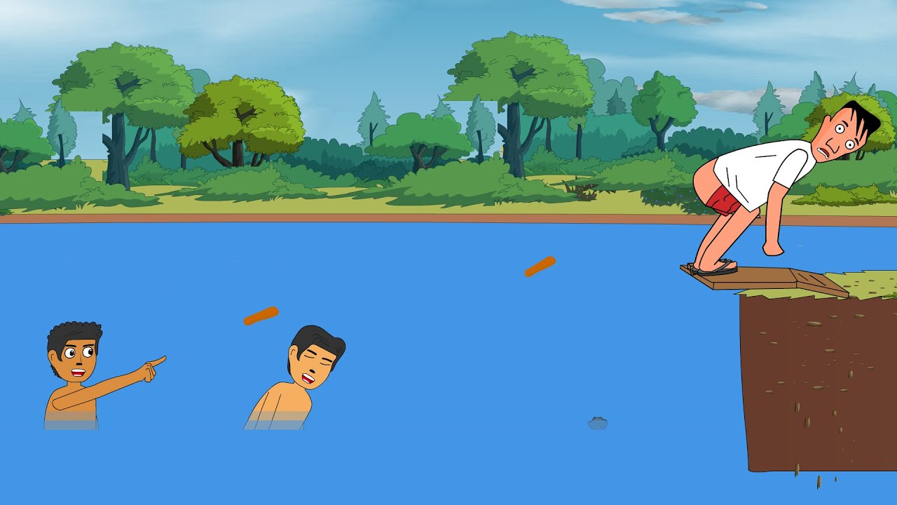 Pottyman And Two Boys । Potty Funny Cartoon Animated ।। Fun Tube