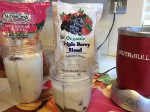 How to make your organic Nutribullet diet ice cream:)