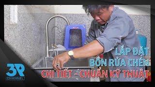 Hướng Dẫn Lắp Đặt Chi Tiết Bồn Rửa Chén Inox 304 | Thay Thế Chậu Rửa Bát Cũ