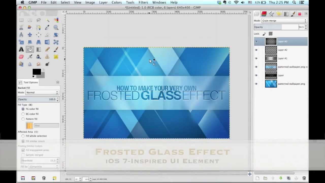 Gimp Frosted Glass