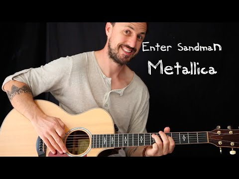 EASY GUITAR LESSON | ENTER SANDMAN by Metallica