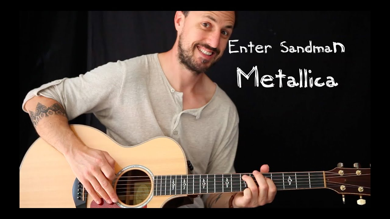 easy guitar lesson enter sandman by metallica youtube. Black Bedroom Furniture Sets. Home Design Ideas
