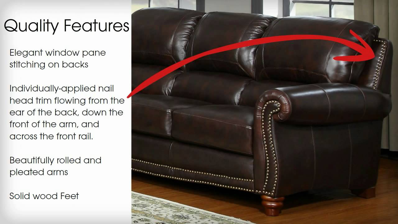 leather italia sofa furniture bed twin sleeper james collection by usa youtube