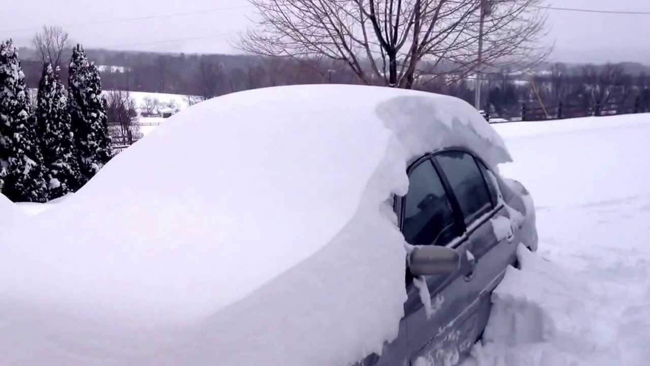Chevy malibu in the snow