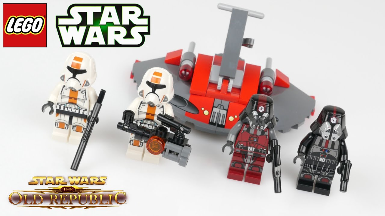 Lego Star Wars Minifigure ~ Republic Trooper 1 and 2 From Set 75001