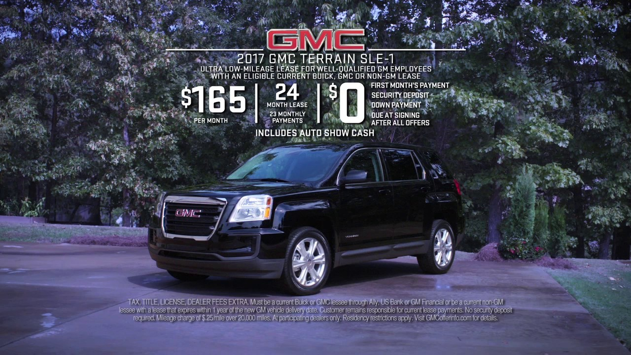 Gmc Terrain Lease Deals >> 0 Due At Signing 2017 Gmc Terrain Sle 1 Lease Special