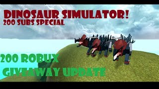 Roblox Dinosaur Simulator - 200 SUBS SPECIAL - Fighting Sauropods - GIVEAWAY UPDATE