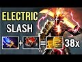 EPIC Shit 38x Slashes Scepter Juggernaut New Trick Madness Omnislash Crazy Gameplay by Cr1t Dota 2