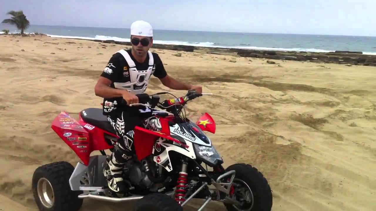 2009 polaris outlaw 525s first ride - YouTube