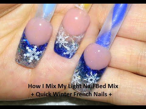 mix light nail bed