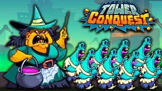 ЭПИЧЕСКИЙ БОСС - ВЕДЬМА! Уничтожил ВСЕХ НА АРЕНЕ в Игре про БИТВЫ и СРАЖЕНИЯ Tower Conquest