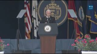Pence at Annapolis: The Era of Military Budget Cuts Is Over thumbnail