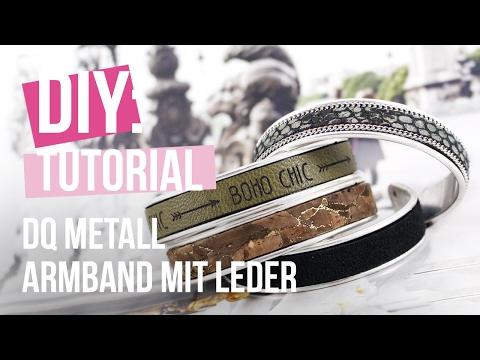 DIY: Armband aus DQ Metall mit 10 mm Leder