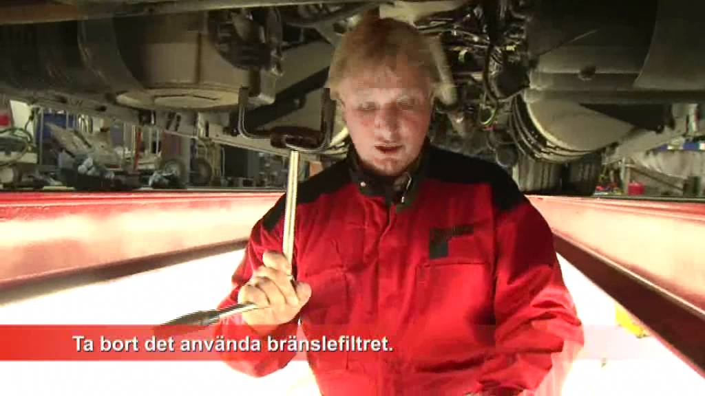 Filterteknik Sverige AB: Byta Fleetguard bränslefilter - YouTube