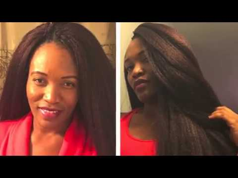 CROCHET BRAIDS LOOP DOMINICAN BLOW OUT STRAIGHT{/} - YouTube
