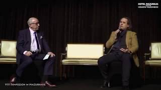 VIII Sympozjon w Mazurkasie-dyskusja na proscenium-Cezaray Domagała i Andrzej Bartkowski