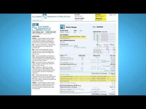 Understanding Your LADWP Solar Bill - YouTube