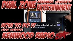 How to do Dual Zone rear seat control on your Kenwood DNX893s, DDX9903s, DDX6903s, and DNX693s