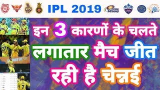 IPL 2019 List Of 3 Reasons Behind The Consecutive Wins Of CSK | My Cricket Production
