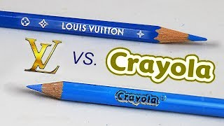 $1000 LUXURY COLOR PENCILS VS $1 CRAYOLA: Which Is Better?