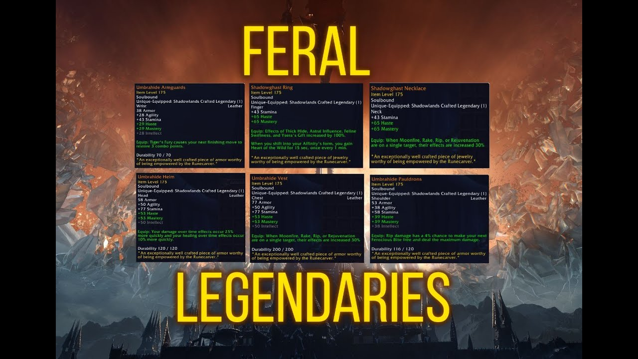 Shadowlands Feral Druid Legendaries Reveal Are They Any Good Youtube