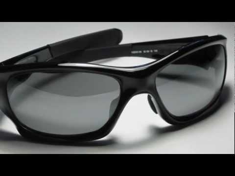 Oakley Pitbull Polished Black w/ Polarized Grey Lenses Sunglasses