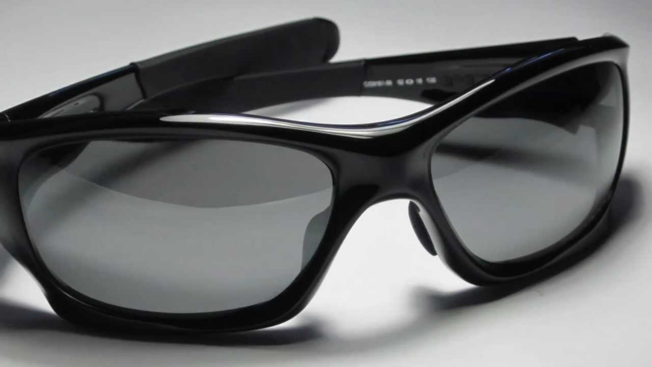 Oakley Pitbull Sunglasses Polarized  oakley pitbull polished black w/ polarized grey lenses sunglasses