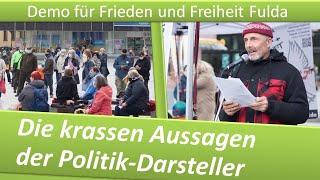 Demo Frieden und Freiheit Fulda/ 03.04.21/ Die krassen Aussagen der Politik-Darsteller