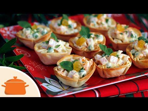 Cestinhas cremosas de tender receita de natal simples e for Canapes simples e barato