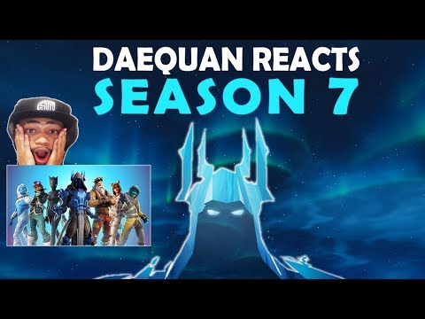 DAEQUAN REACTS TO SEASON 7 & DESTROYS IN FIRST GAME! | BATTLEPASS, NEW MAP, NEW SKINS, AIRPLANES!