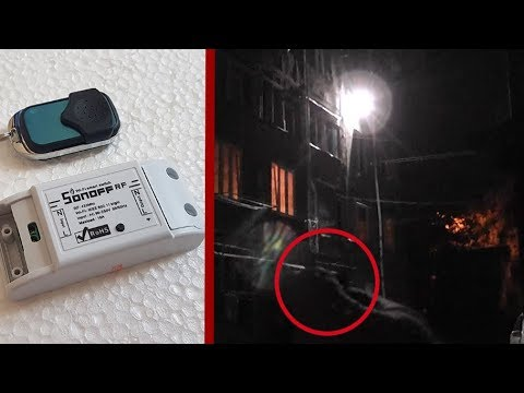 Installed WiFi relay for smart home Sonoff RF 433mhz for outdoor lighting /  Sonoff RF Overview