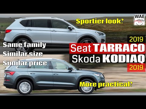 2019 Seat Tarraco vs 2019 Skoda Kodiaq - near identical 7-seaters side by side