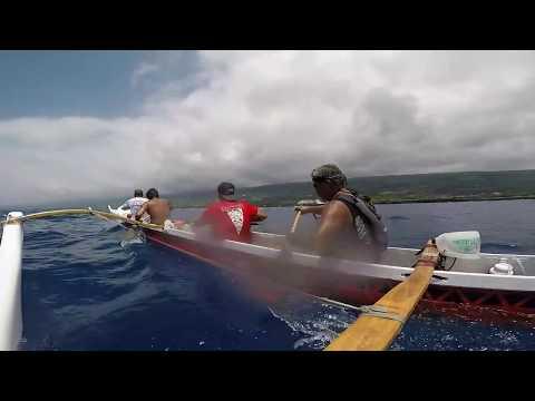 2017 Queen Liliuokalani LD Canoe race Kai Ehitu Kona Red Mens 55 Iron clip