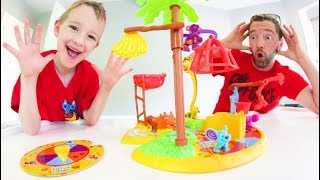 Father & Son PLAY MOUSE TRAP JR! / Don't Get Trapped!