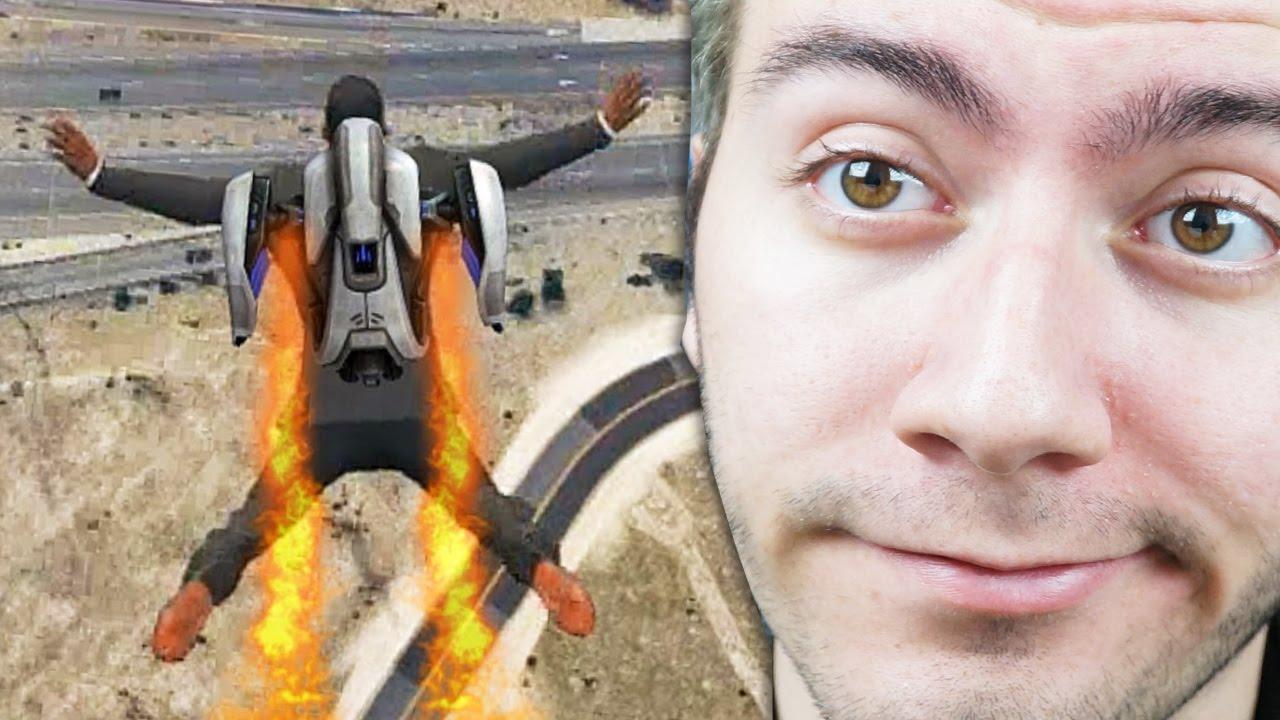 Jetpack Calma Gorevi Gta 5 Mod Komik Anlar Youtube